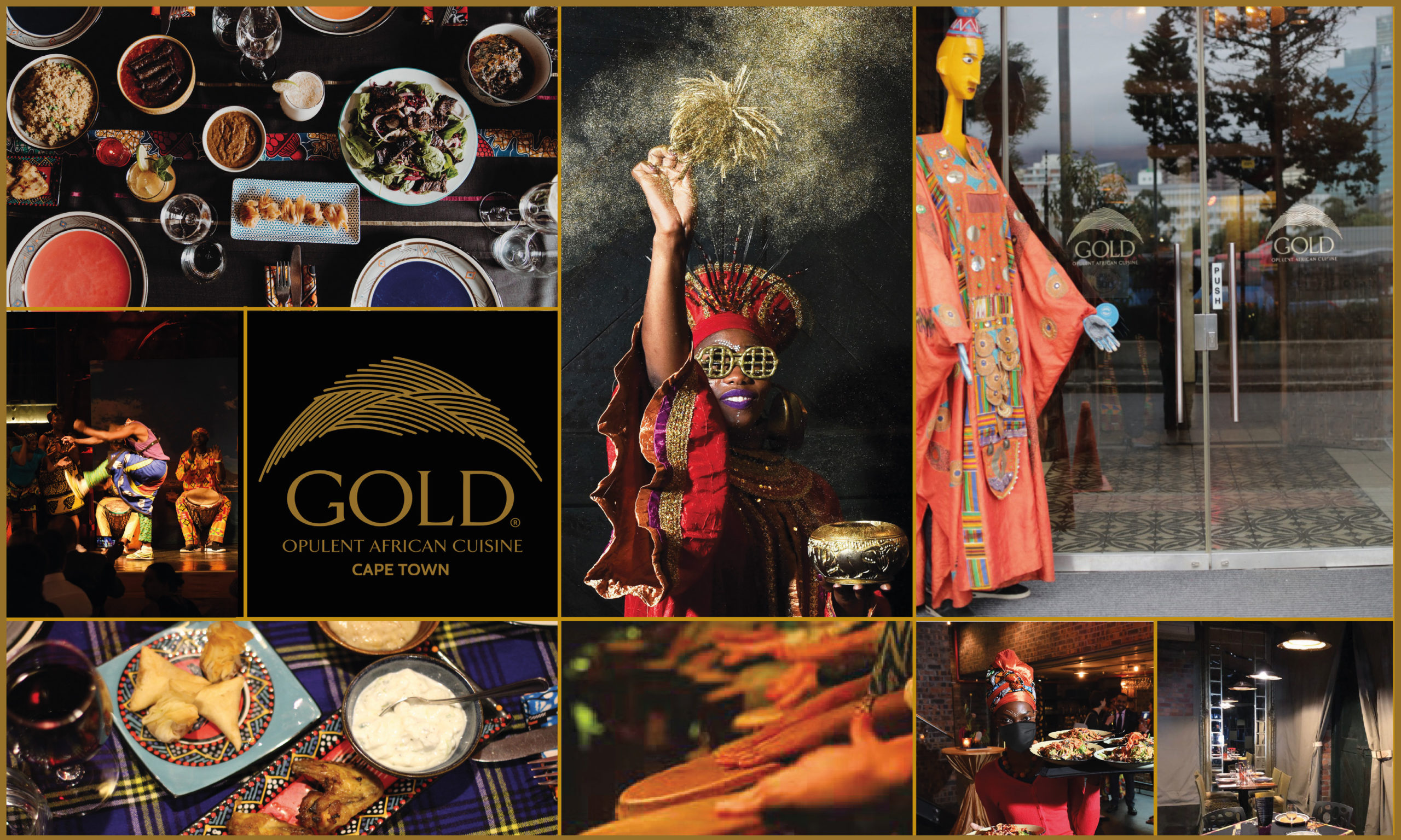 GOLD Restaurant Collage